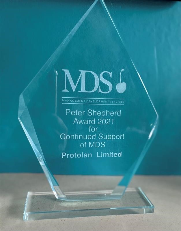 Peter Shepherd Award for Continued Support of MDS